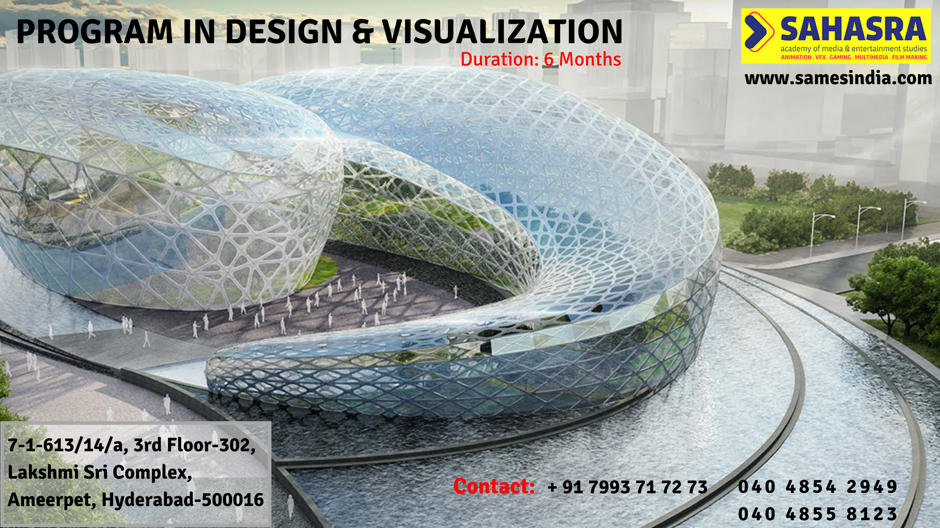 Samesindia offers training in design u visualization for months