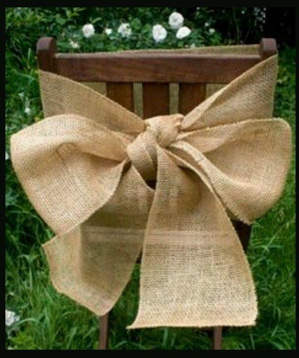 Shabby Chic Rustic Wedding Ideas: 10 Burlap Chair Sashes Rustic Shabby Chic Country Fall