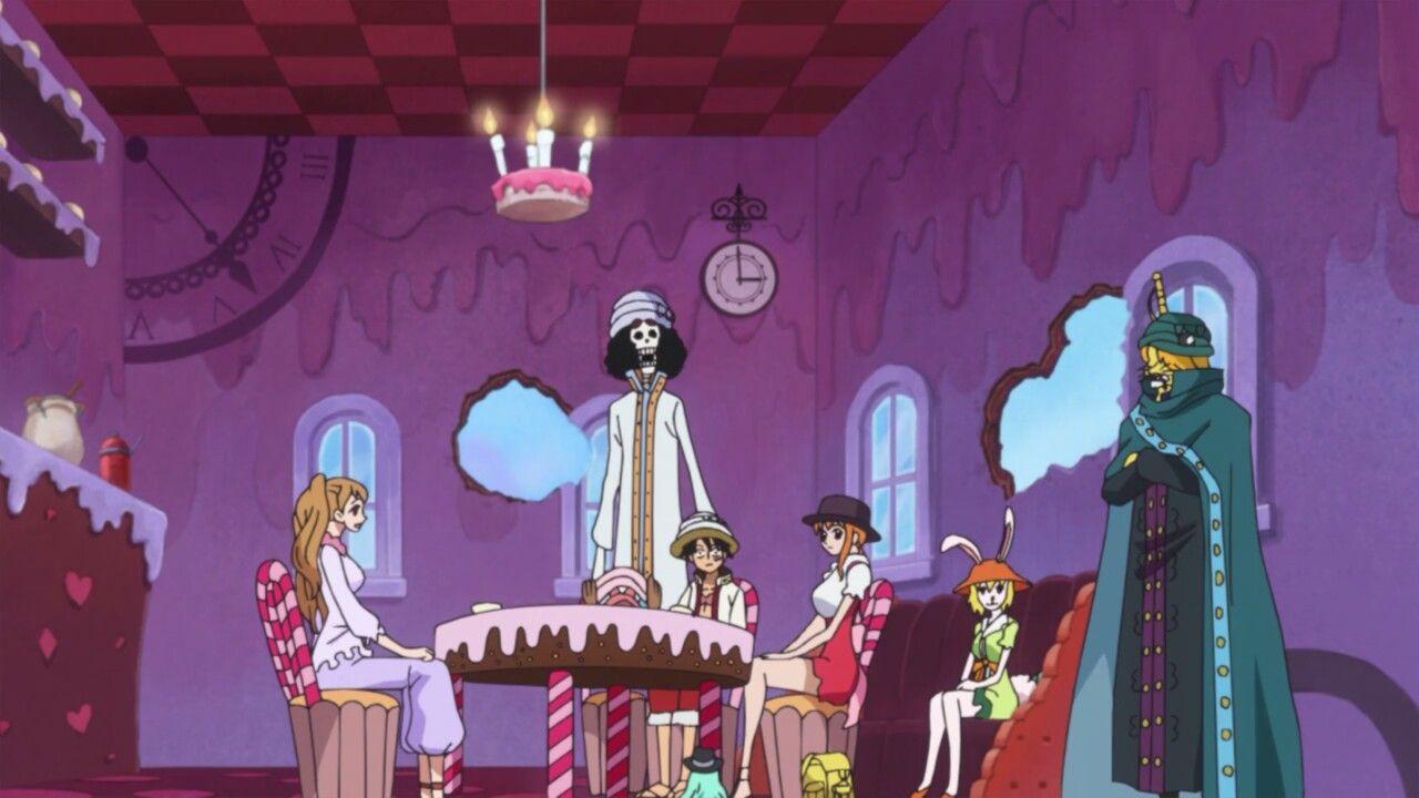 Pudding,Luffy,Nami,Chopper,Brook,Carrot & Pedro - One Piece