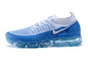 a7923ca2a973b Mens Nike Air VaporMax Flyknit TPU Blue White 781024 411 Running Shoes