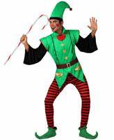 Disfraz de Elfo Rayas para adulto