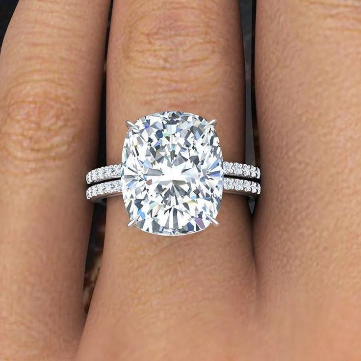 Natural Cushion Cut Pave Authentic Diamond Engagement Ring GIA Certified In Jewelry Watches Wedding Rings