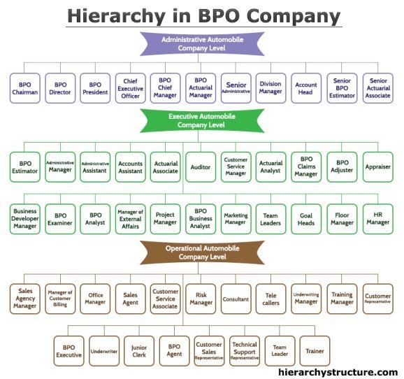 Hierarchy In Bpo Company Bpo Hierarchy Company