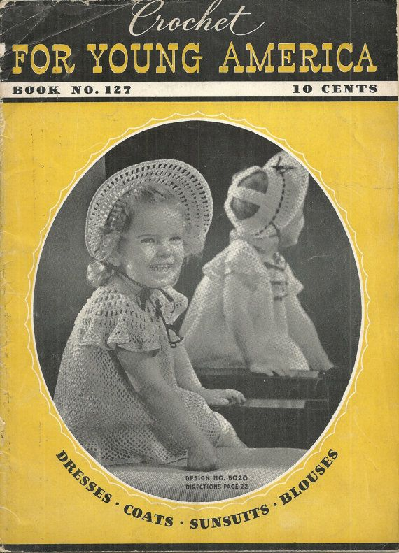 Crochet for Young America for Vintage Designs by debspatterns55, $7.50
