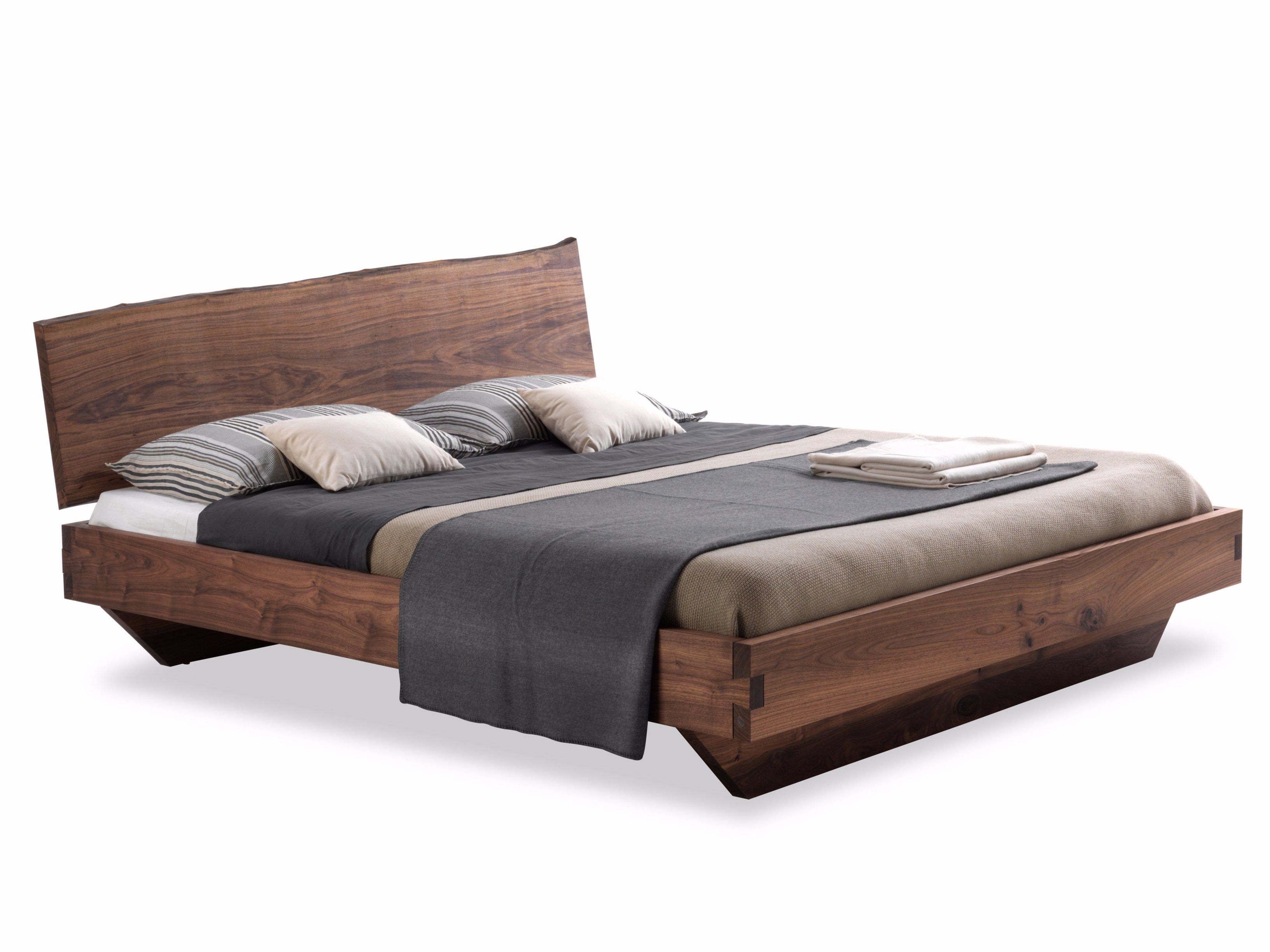 Solid wood double bed NATURA 6 By Riva 1920 design C.R.&S