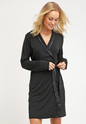 Eleganter Bademantel aus kuschelweichem Jersey. Calvin Klein Underwear MODAL WITH SATIN - Bademantel - black für 69,95 € (30.11.15) versandkostenfrei bei Zalando bestellen.