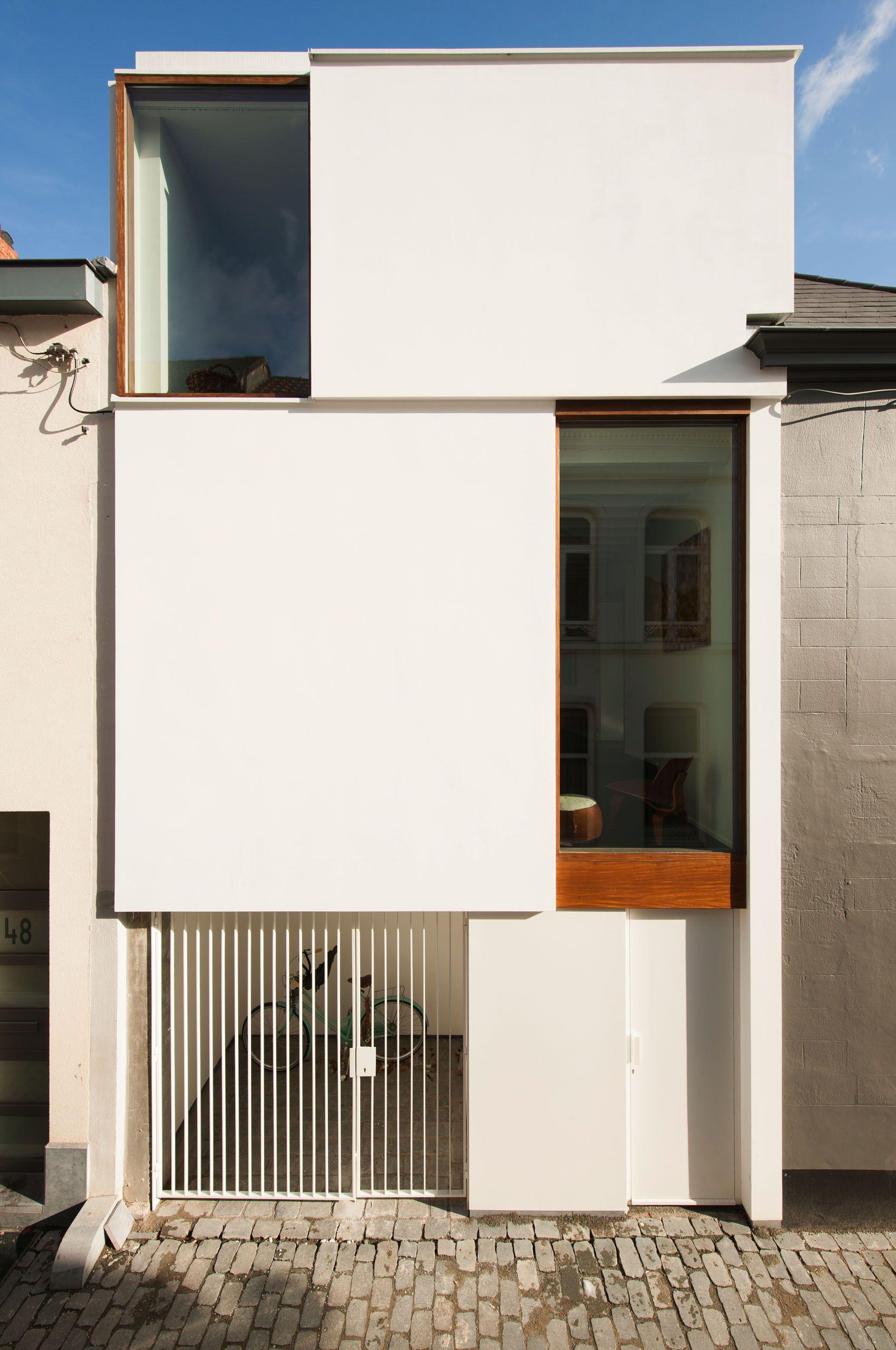 casa lks p8 architecten schmale h user schmal und architektur. Black Bedroom Furniture Sets. Home Design Ideas