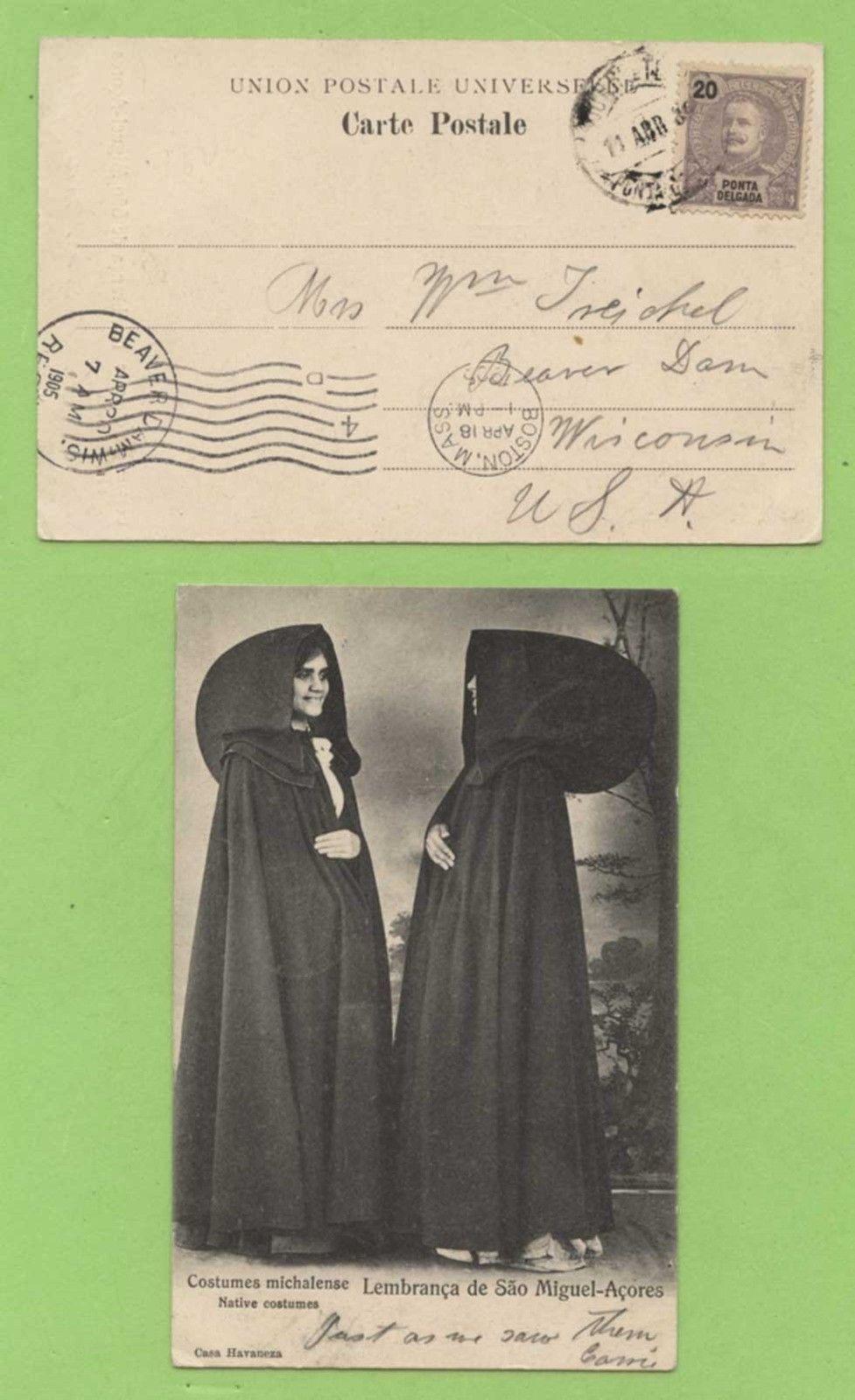 Portugal - Azores 1905 Costumes, Lembranca de Sao Miguel