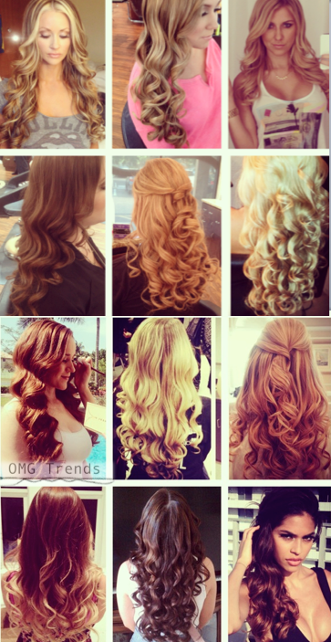 12 Different Types Of Curls From The Same Iron Hair Styles Curly Hair Styles Types Of Curls