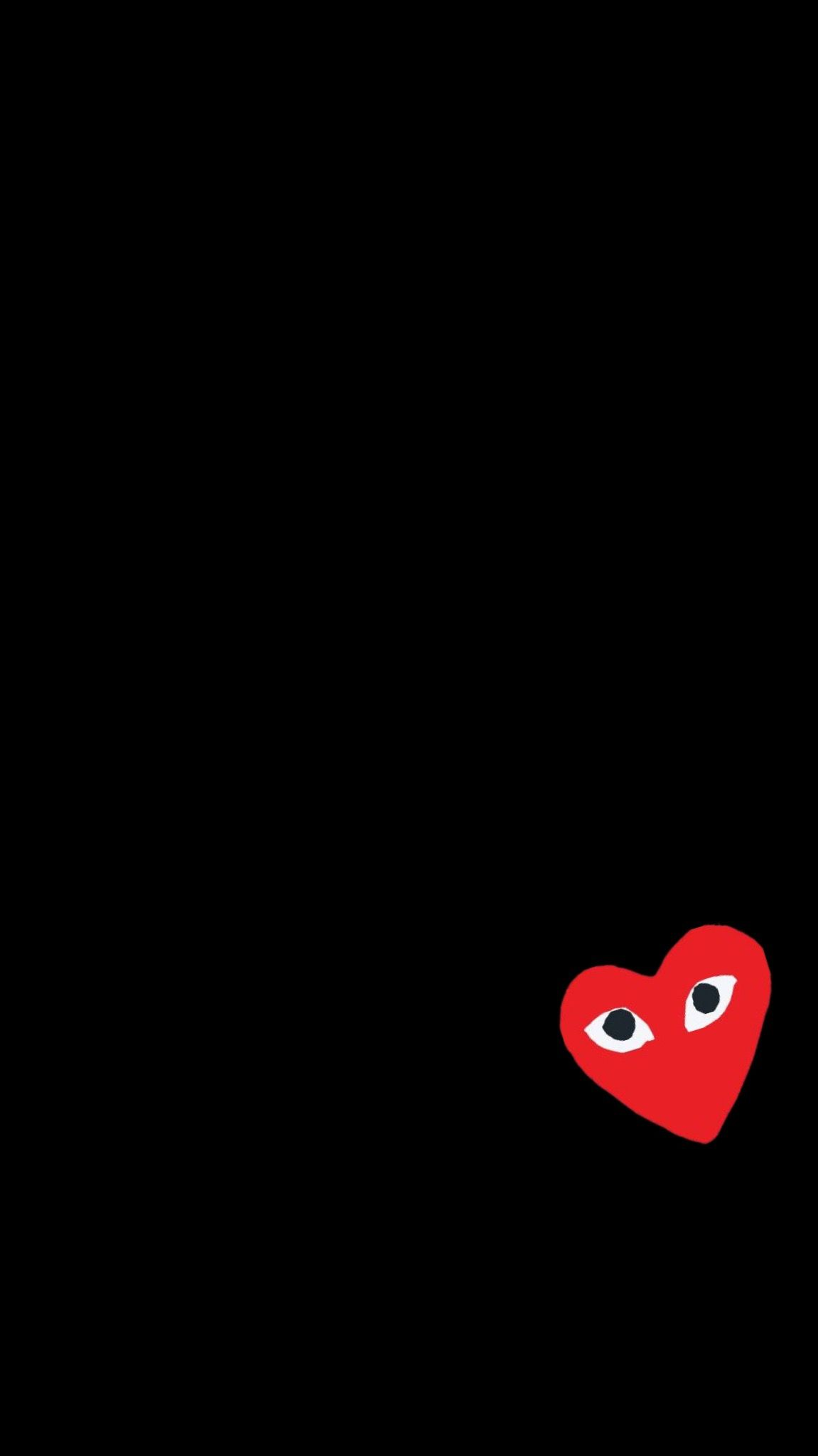 Cdg Wallpaper True Black Wallpaper Hypebeast Designer