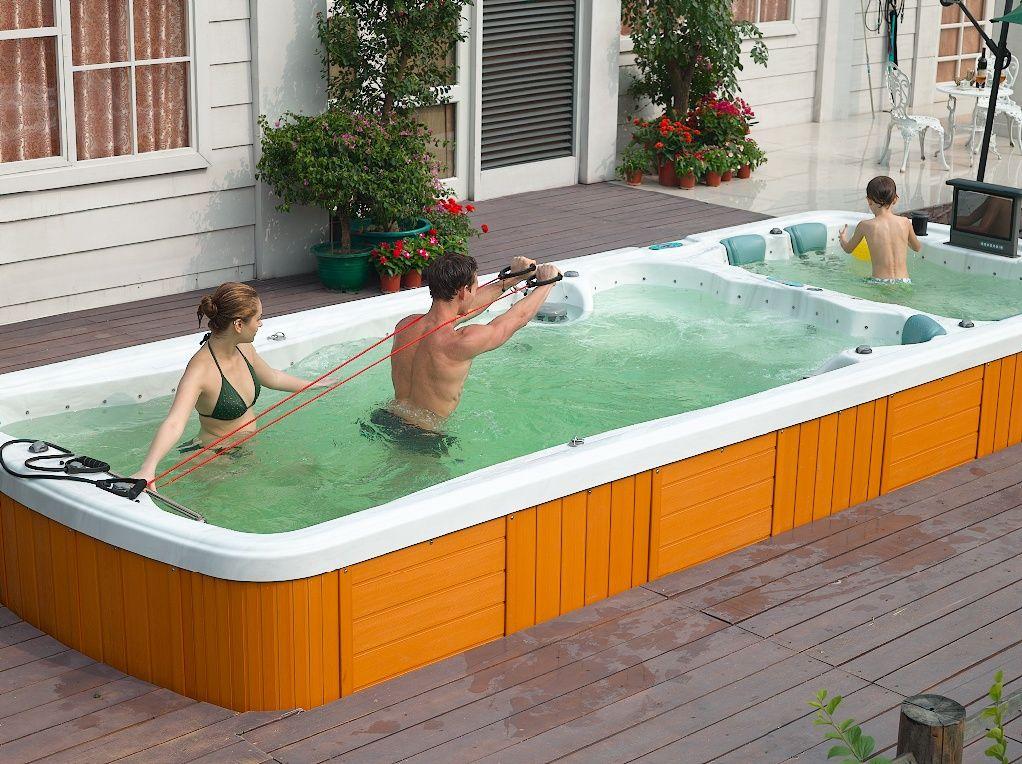 Aquafitness esx 8188 aquatic fitness rowing system for Spa swimming pool