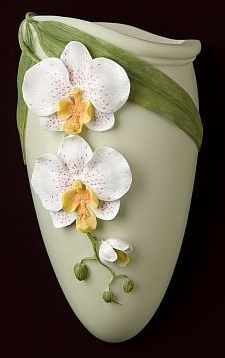 Phalaenopsis Orchid Wall Vase/Wall Pocket | polymer clay ...