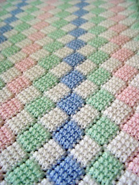 Tunisian Entrelac Baby Afghan Crochet Baby Afghan Crochet