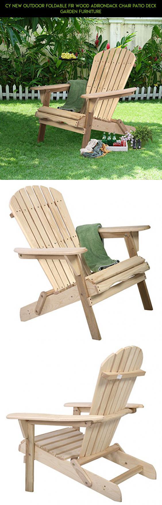 CY New Outdoor Foldable Fir Wood Adirondack Chair Patio Deck Garden  Furniture #gadgets #tech