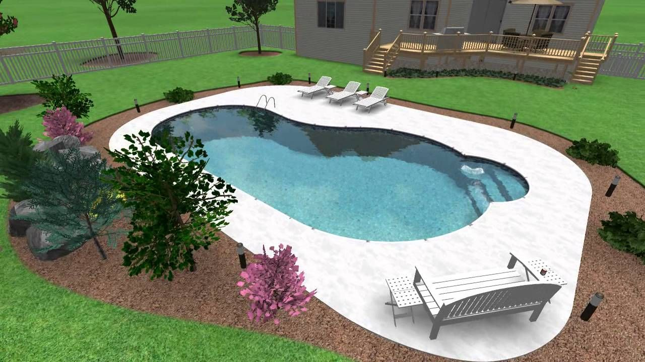 Gut Kleine Höfe · Nierenförmigen Pool · Animated Swimming Pool Design Idea.  Free Form Kidney