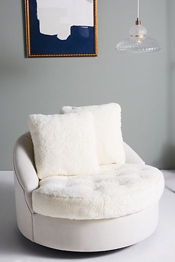 Wool Barwick Swivel Chair Swivel Chair Upholstered Accent