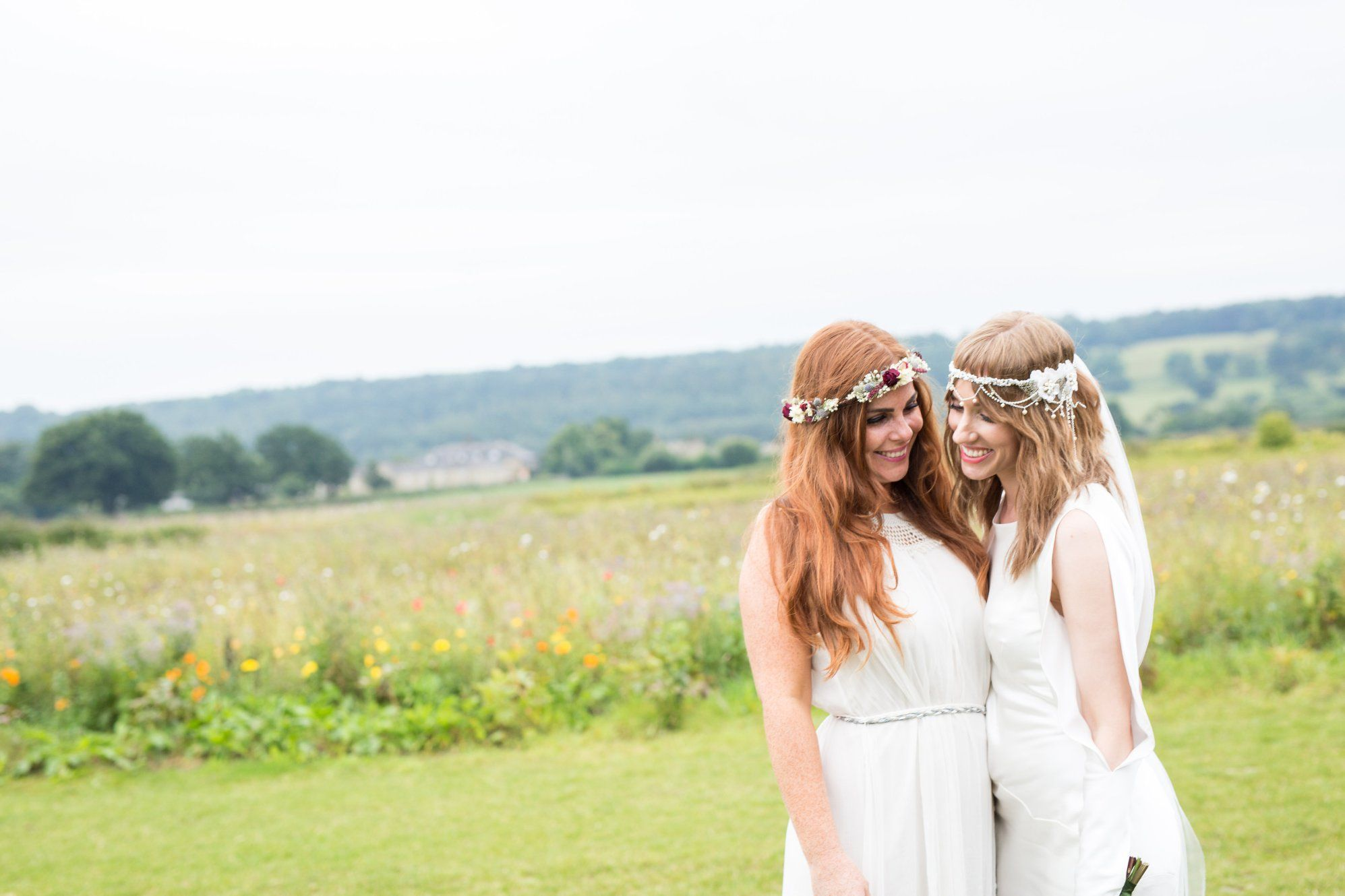 S s boho wedding dress and bridesmaid maid of honour dress