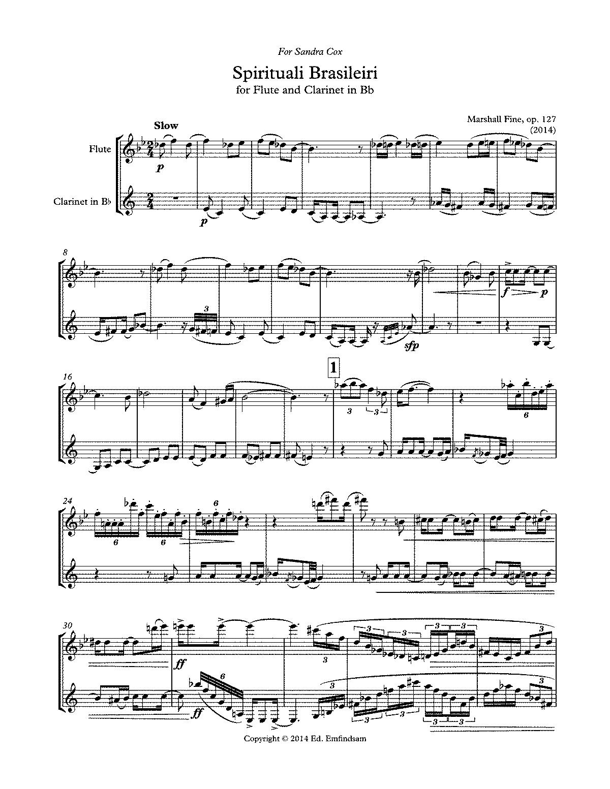 PmlpSpirituali Brasilieri  Score And PartsPdf  Chamber