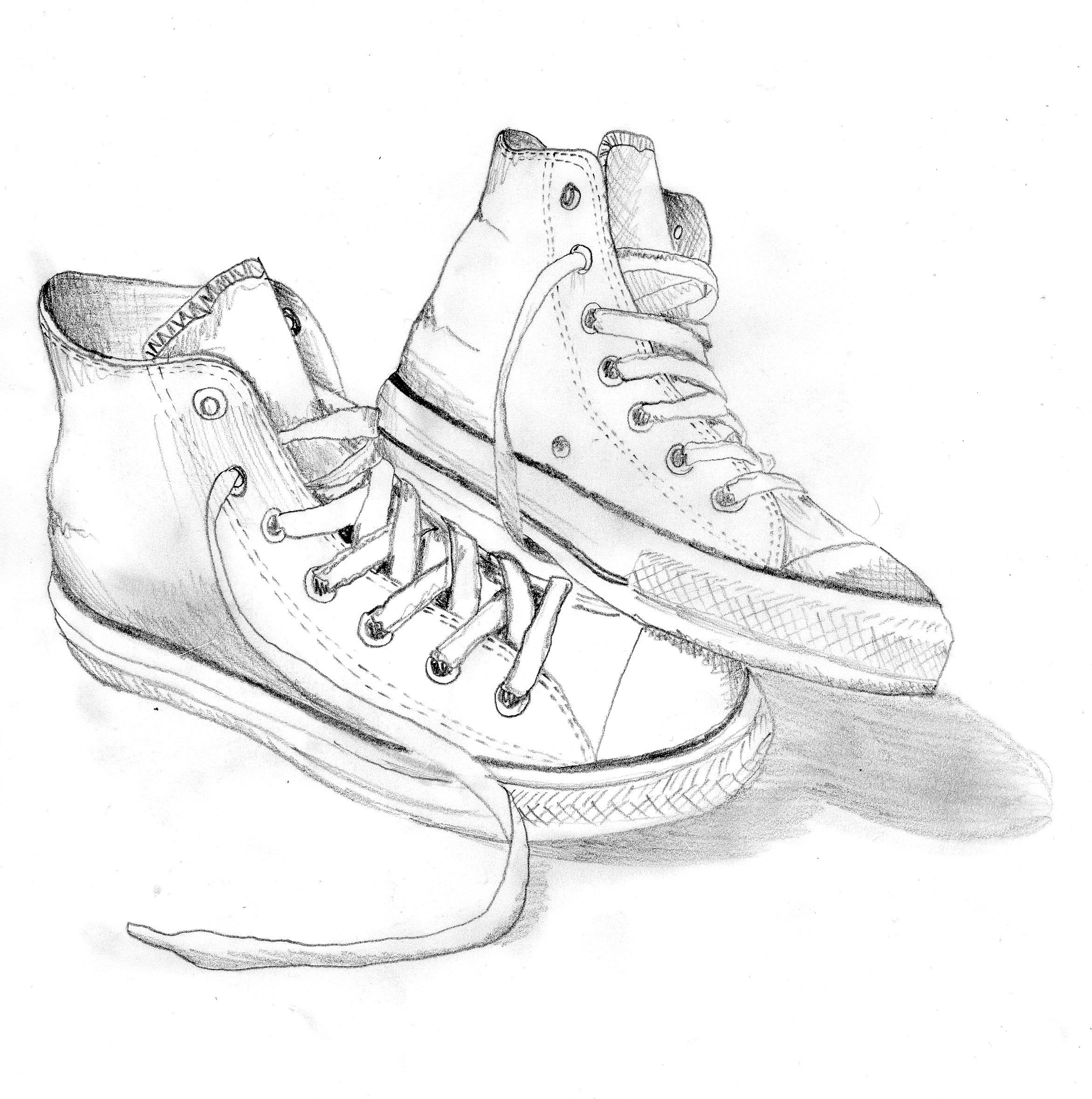 Line Drawing Shoes : Converse store on drawing and