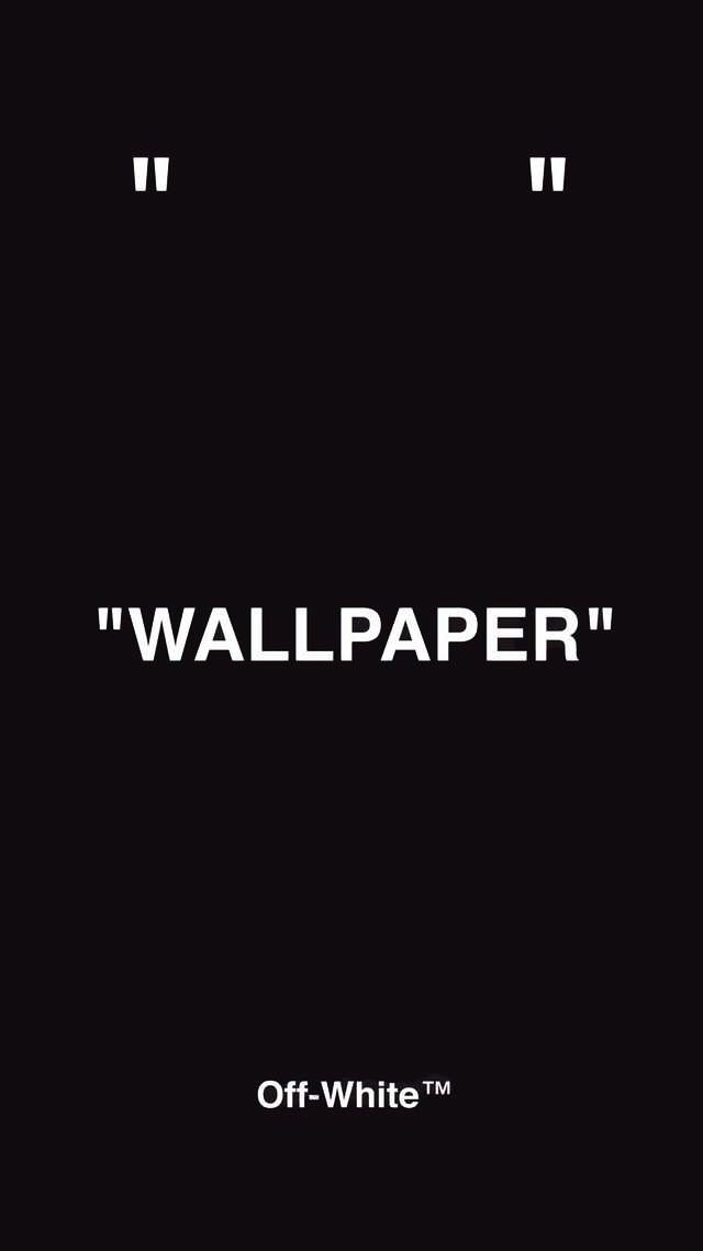 OffWhite Wallpaper in black! Wallpaper off white