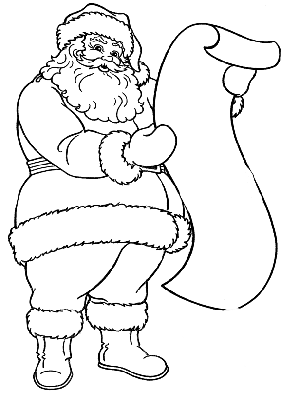 Read A List Of Names Of Santa Claus In Christmas Coloring For Kids ...