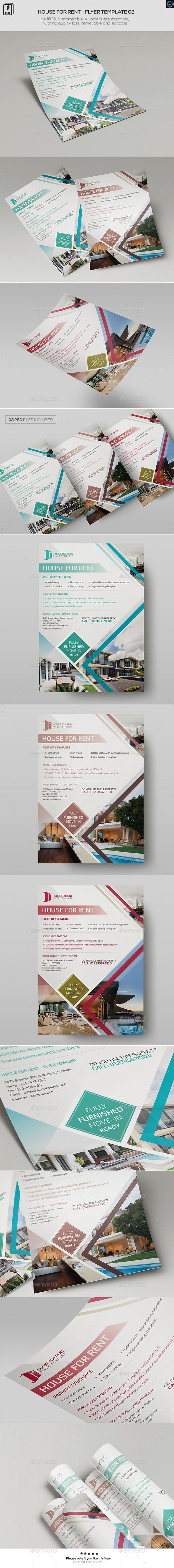 House For Rent - Flyer Template 02 | Flyer template, Renting and ...