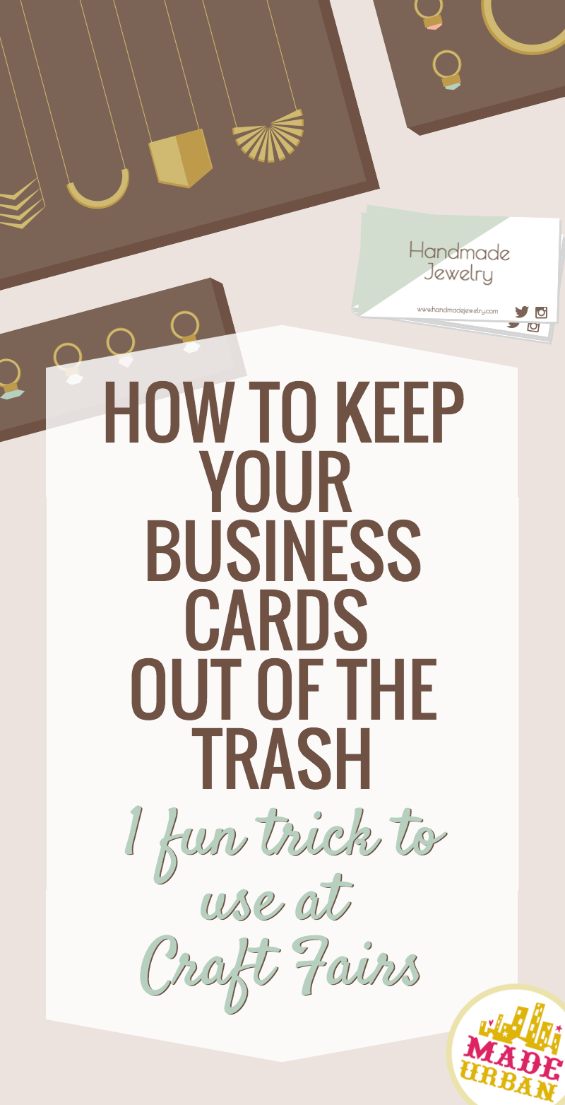 How to Keep your Business Card Out of the Trash | Craft fairs ...