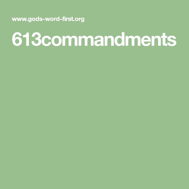 613commandments | Jewish | 613 commandments, Old testament