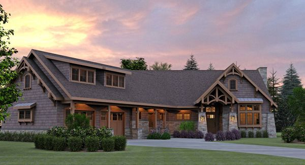 Mountain Cottage with Optional Bonus Room House Plan- LOVE IT!!!!!!  Stories: 1  Total Living Area: 2221 Sq. Ft.  First Floor: 2221 Sq. Ft.  Bonus: 1032 Sq. Ft.  Bedrooms: 2  Full Baths: 2  Width: 88 Ft. 2 In.  Depth: 86 Ft.  Foundation:  Basement, Crawl Space, Slab
