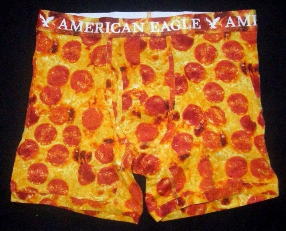 PIZZA PRINT SATIN BOXER SHORTS UNDERWEAR