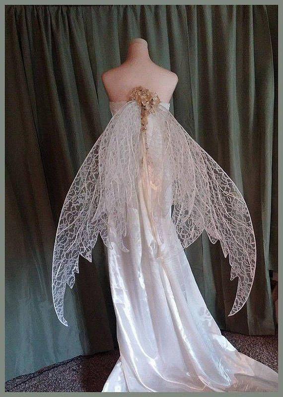 Atemberaubende Fee Hochzeit Flugel Kann Angepasst Werden Etsy Fairy Dress Fantasy Dress Fantasy Gowns