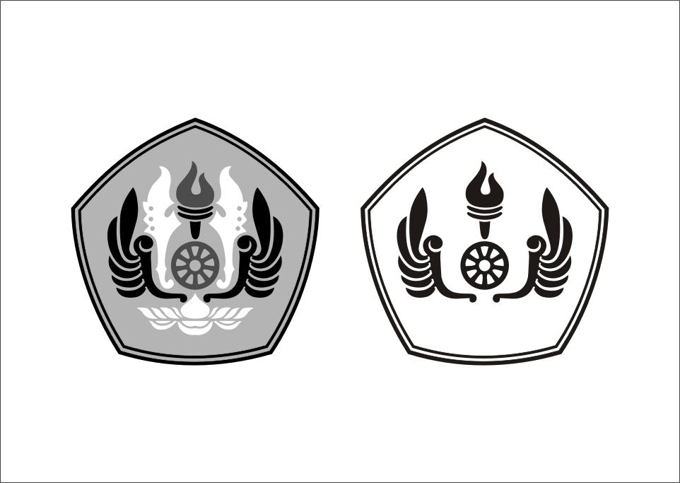 Logo UNPAD Hitam Putih Vector cdr Hitam, Adobe