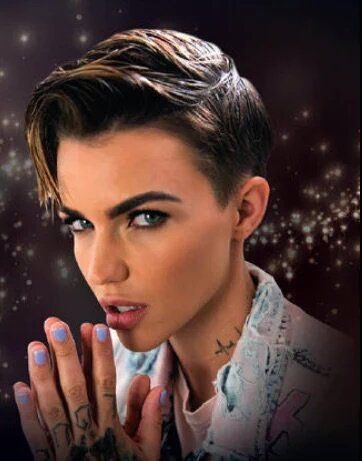 Ruby Rose Loving The Pastel Colors On Her Girls Pinterest - Undercut hairstyle ruby rose