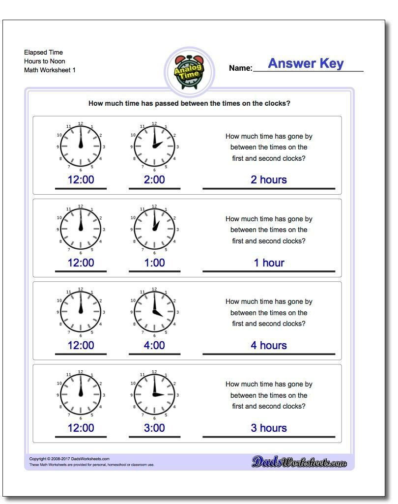 hight resolution of Elapsed Time Worksheets 3rd Grade Start From Full Hours Analog Elapsed Time  Worksheet Start   Elapsed time worksheets