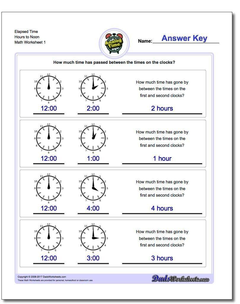 small resolution of Elapsed Time Worksheets 3rd Grade Start From Full Hours Analog Elapsed Time  Worksheet Start   Elapsed time worksheets