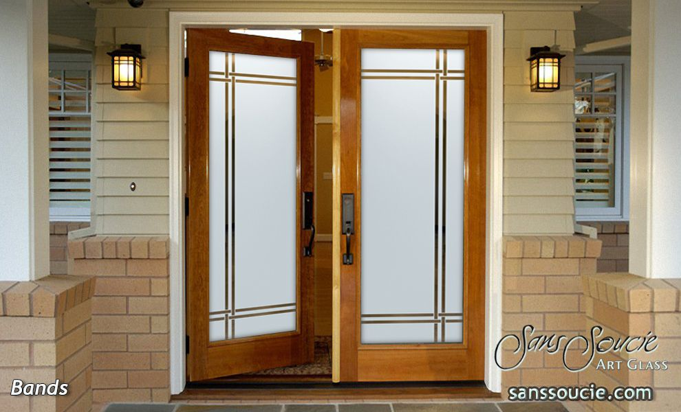 Double Entry Glass Doors With Traditional Sophistication Entry