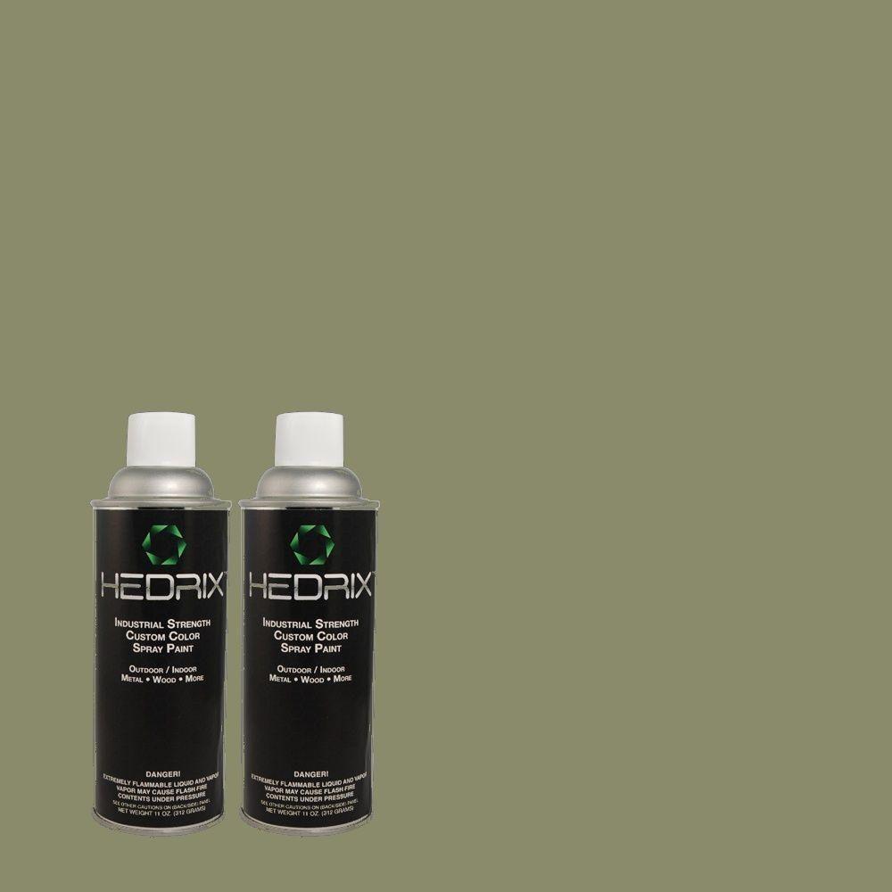 Hedrix 11 oz. Match of 3A59-5 Fox Hollow Flat Custom Spray Paint (2-Pack), Color Match Of 3a59-5 Fox Hollow. Available In Multiple Sheens.