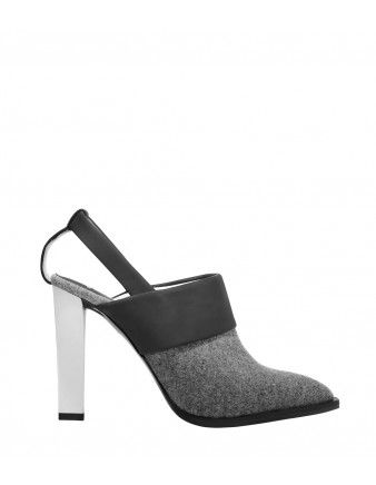 Karen Gallo Gray Wool Slingback Pump - Shop more new arrivals from the October issue at ShopBazaar.com http://shop.harpersbazaar.com/in-the-magazine/shop-the-issue/october-2014