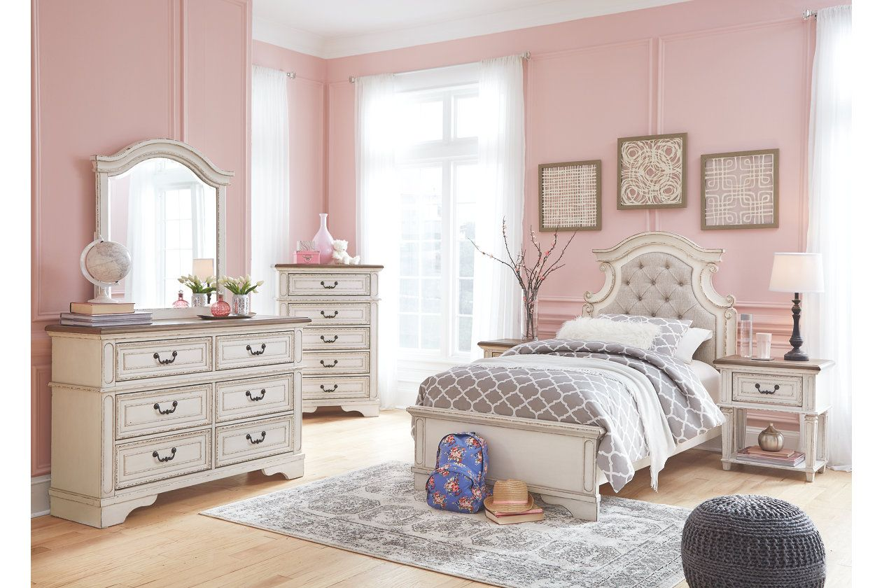 Best Realyn Queen Upholstered Panel Bed Ashley Furniture Homestore In 2019 Girls Bedroom Sets 400 x 300