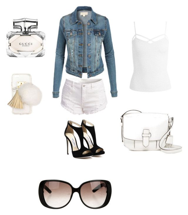 """""""Summer Casual"""" by etie-uwaifo ❤ liked on Polyvore featuring Sans Souci, MICHAEL Michael Kors, Gucci, Ashlyn'd, denimjackets, WardrobeStaples and knowinghowtoworkdenim"""
