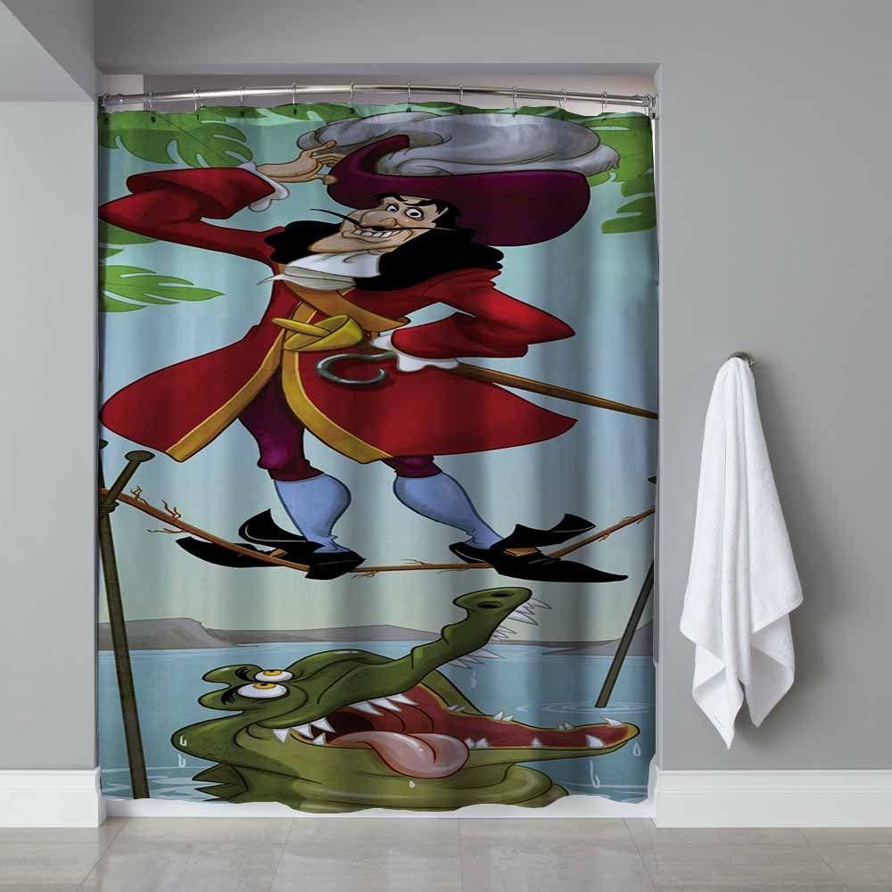 Disney Captain Hook Haunted Mansion Design Custom Shower Curtain Limited Edition Unbranded Summer2017