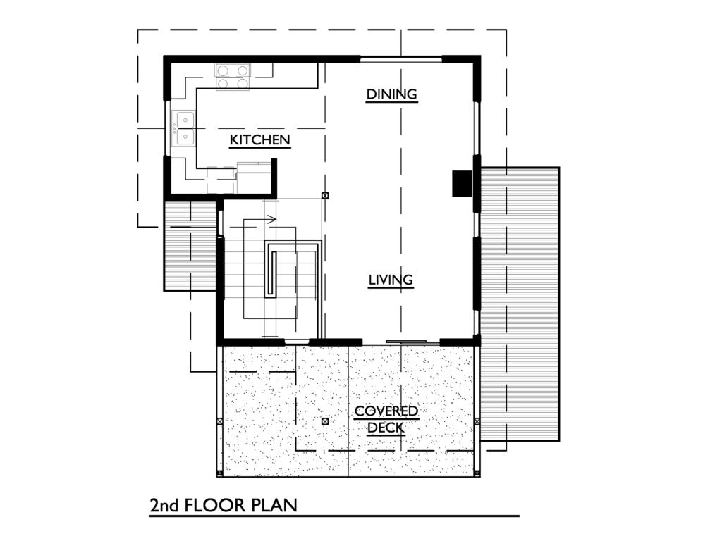 Plano De Linda Cabana De 2 Dormitorios Construida En