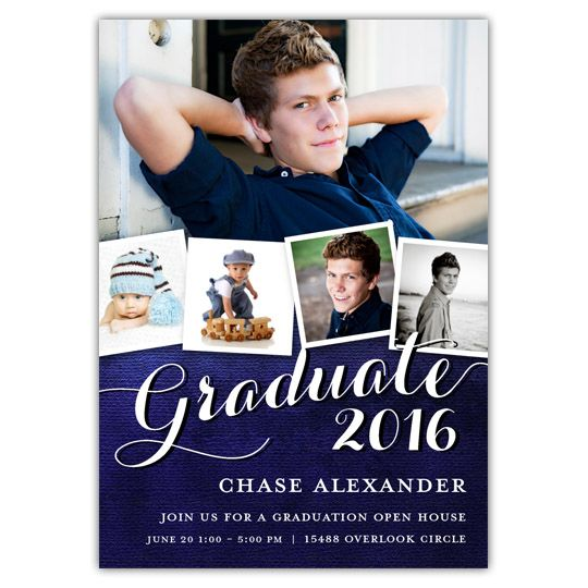 Create custom graduation invitations and announcements with Focus in