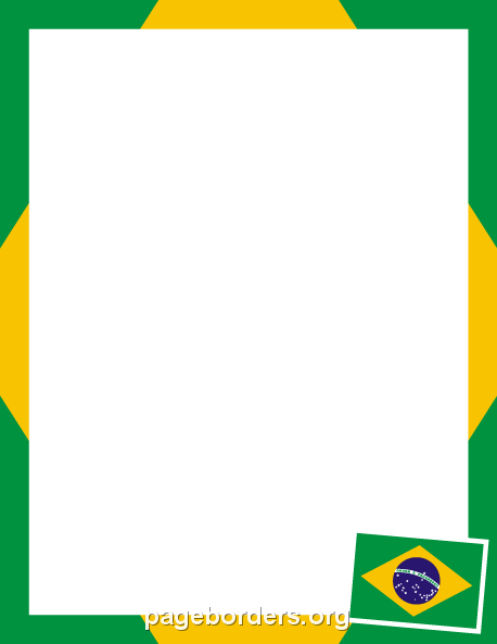 image relating to Brazil Flag Printable identified as Pin through Muse Printables upon Webpage Borders and Border Clip Artwork