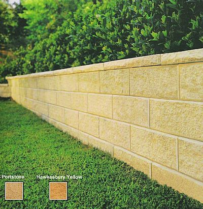 Heathstone®Grande retaining wall blocks $9.40 each | benson backyard ...