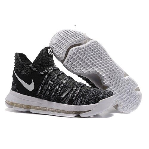 2017 Nike KD 10 Black Cool Grey Colorful Basketball Shoes