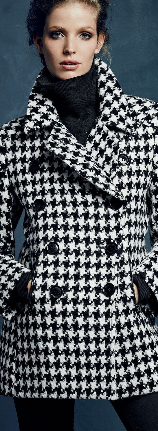 Women S Outerwear Jackets Coats Sweaters Buyer Select Fall Fashion Coats Houndstooth Outfit Fashion [ 1488 x 546 Pixel ]