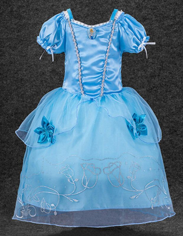New Cinderella Gown Fancy Dress Girls Child Princess Halloween - princess halloween costume ideas