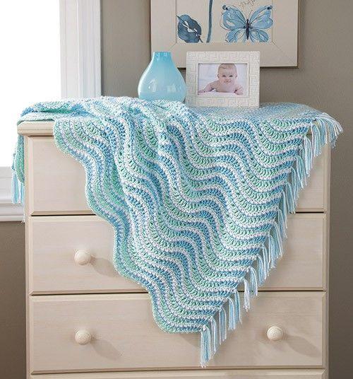 Baby Waves Blanket - Blue