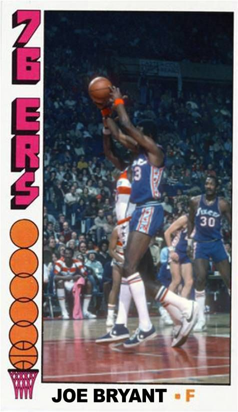 brand new c2d65 86ca4 Joe Bryant Philadelphia 76ers | My Custom Basketball Cards ...
